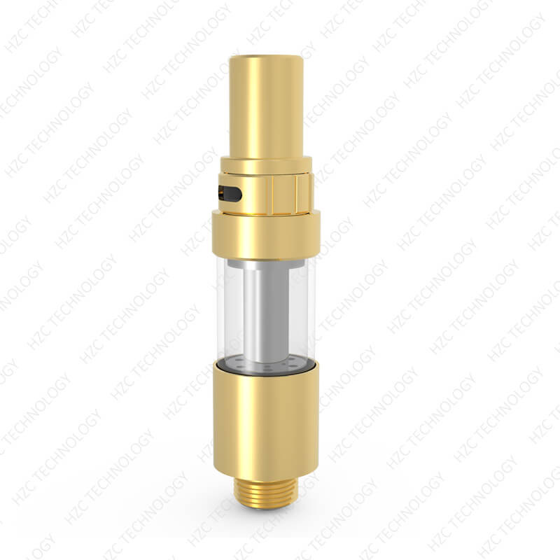 empty dab cartridge Liberty X5 Gold color Front show