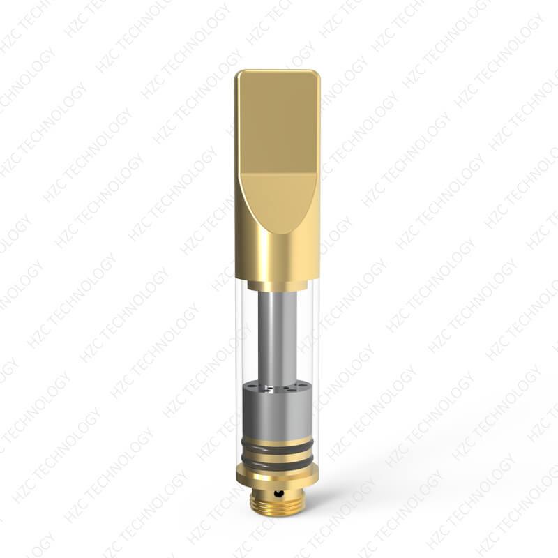 hemp oil cartridge X11 flat tip gold color
