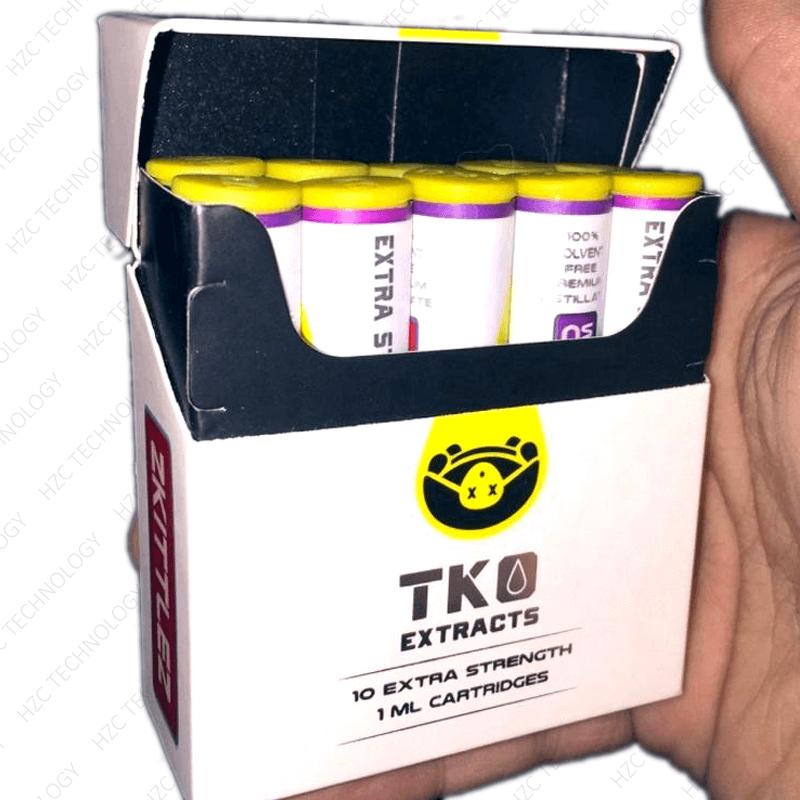 TKO cartridges wax cartridges wholesale box show