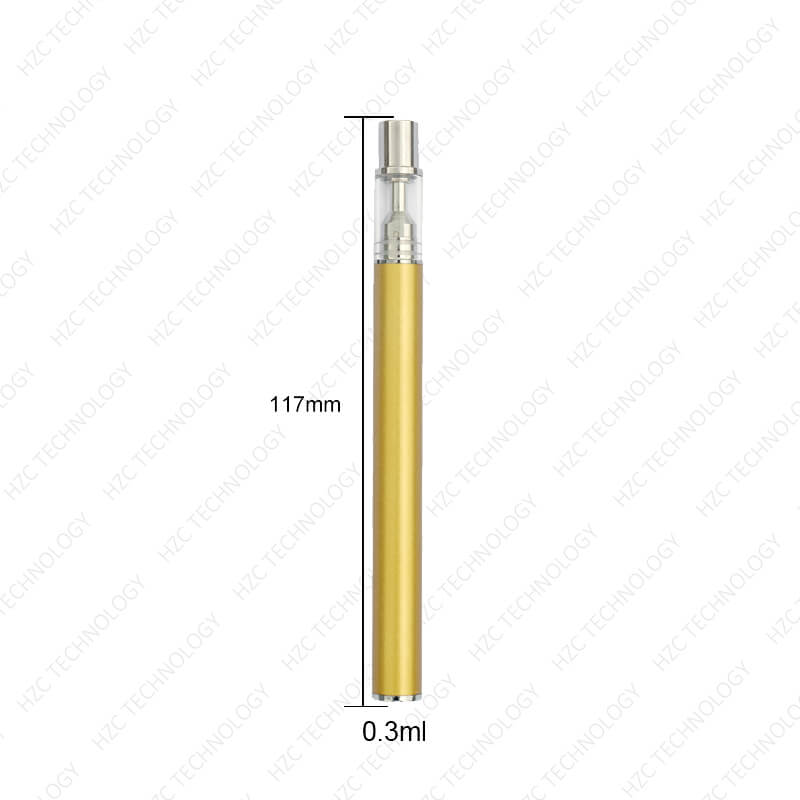 disposable dab pen gold color 0.3ml