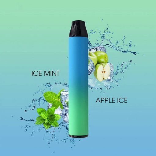 Dual-flavor-disposable-mint-and-apple-Flavor