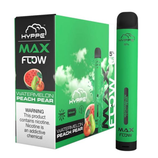 Hyppe-Max-Flow-disposable-vape-device-bulk-wholesale-Watermelon-Peach-Pear
