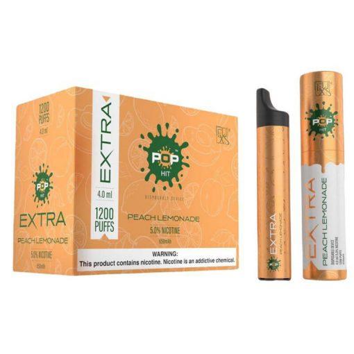 POP-Xtra-disposable-vape-device-bulk-wholesale-peach-lemonade-flavor