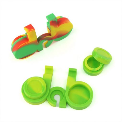 5ml 2 in 1 Dab Jar green color