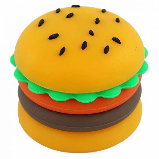 5ml silicone hamburger wax container overview