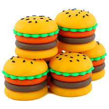 5ml silicone hamburger wax container show