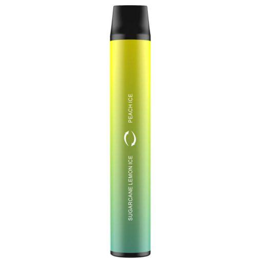 Dual Flavor Disposable NEW EZZY 2 In 1 Vape device bulk wholesale sugarcane lemon ice and Peach ICE flavor