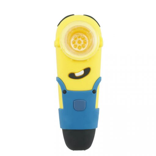 Minions Silicone pipe with glass bowl bulk wholesale