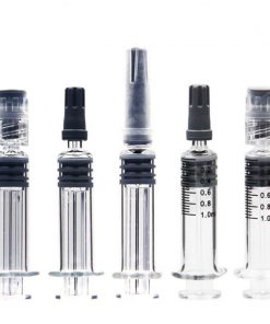 Standard 1ml glass syringe luer lock for distillate
