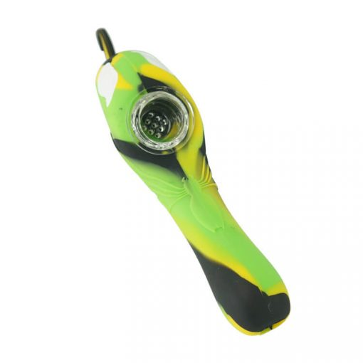 Venom silicone pipe with glass bowl top show