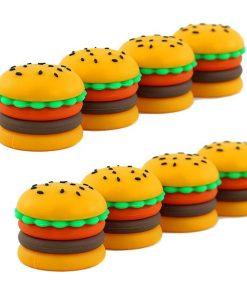 new-5ml silicone hamburger wax container