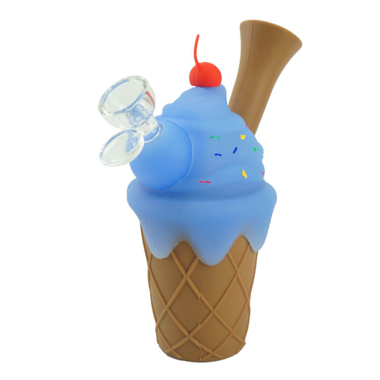 silicone ice cream pipe blue berry style