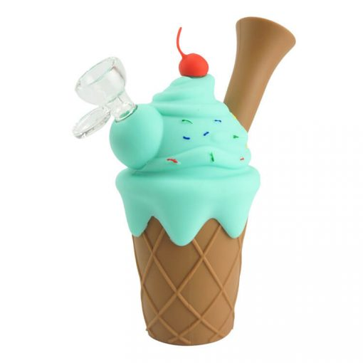 silicone ice cream pipe light blue color
