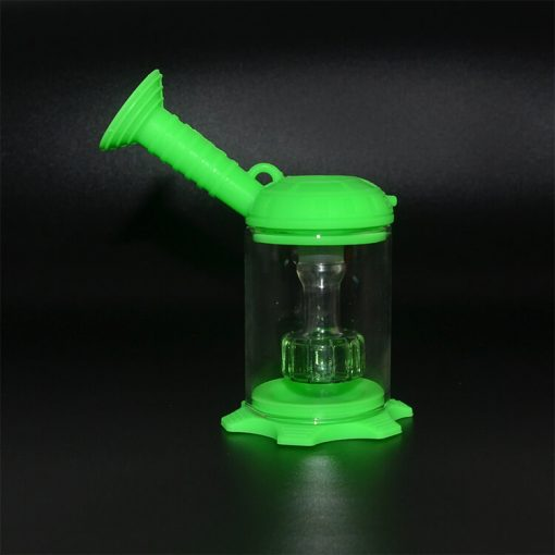 silicone travel bong green color