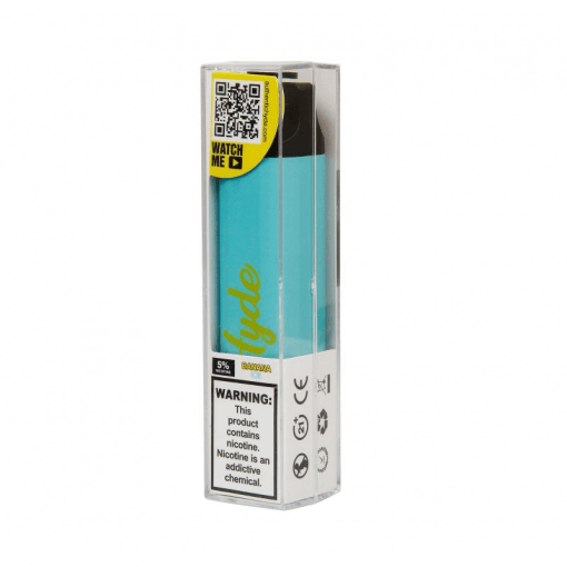 Hyde Edge 3300 puffs recharge disposable vape device Banana ICE with package