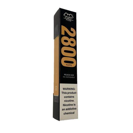 2800-Puffs-Puff-Flex-Disposable-Vape-Device Bulk wholesale peach-ice